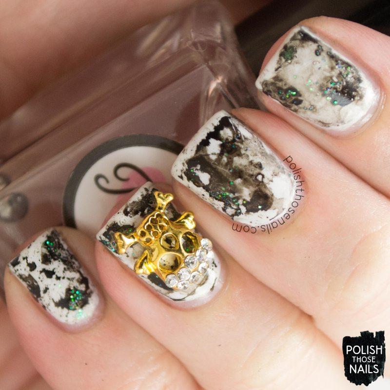 nails, nail art, nail polish, india ink, polish those nails, skull
