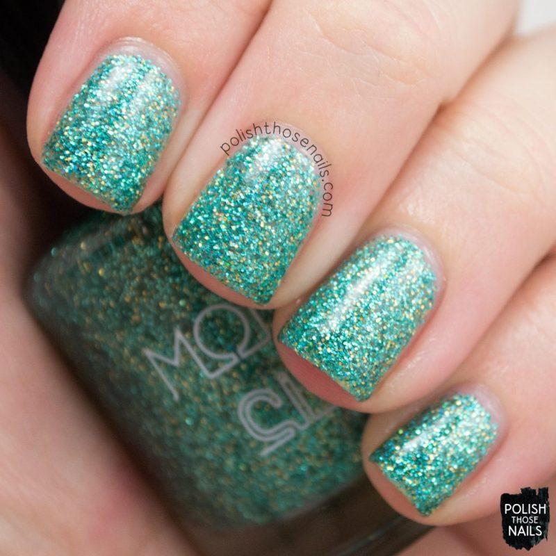 aqua aura, glitter, teal, nails, nail polish, indie polish, model city polish, polish those nails, swatch