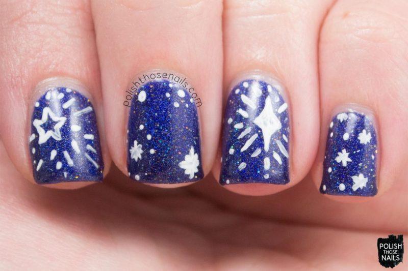 cosmic lovers, blue, holo, nails, nail polish, indie polish, model city polish, polish those nails, nail art