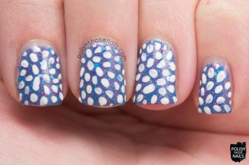 sb05 july 2015, blue, glitter, nails, nail polish, indie polish, model city polish, polish those nails, nail art