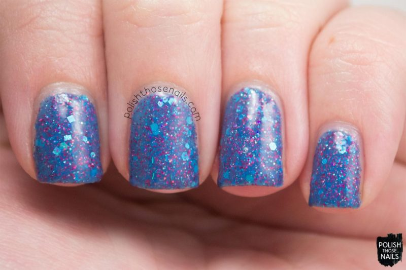 sb05 july 2015, blue, glitter, nails, nail polish, indie polish, model city polish, polish those nails