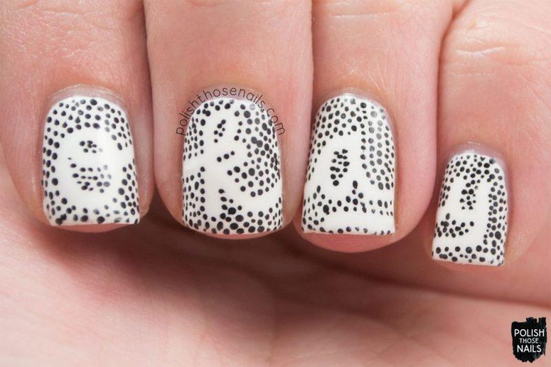 nails, nail art, nail polish, type, typography, polka dots, polish those nails