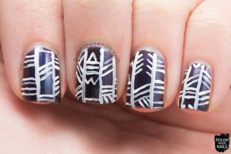 biomimicry, tribal, nails, nail art, nail polish, indie polish, polish those nails, parallax polish