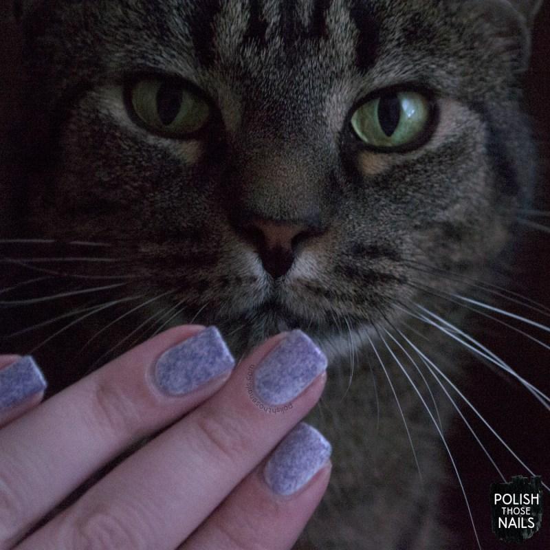 parallax polish, coral reef, purple, glitter, nails, nail polish, indie polish, parallax polish, polish those nails, the secrets of the 7 seas, cat