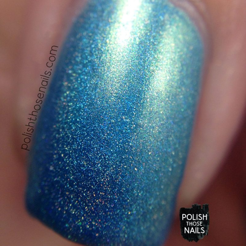 gulf stream, teal, holo, shimmer, nails, nail polish, indie polish, parallax polish, polish those nails, the secrets of the 7 seas, macro