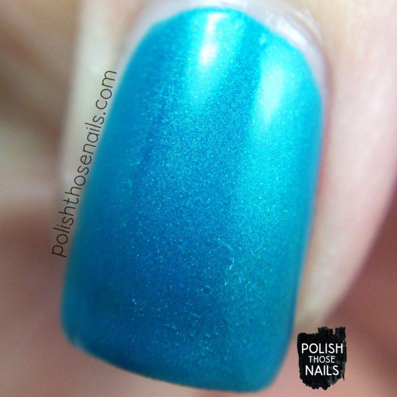 sea foam, teal, shimmer, nails, nail polish, indie polish, parallax polish, polish those nails, the secrets of the 7 seas, macro