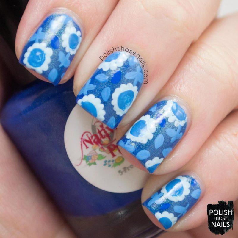 nails, nail art, nail polish, blue, floral, polish those nails,