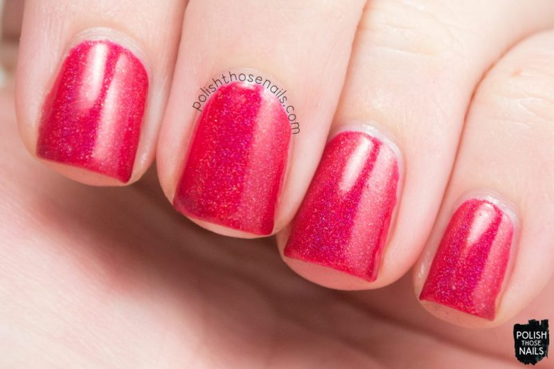 swatch, happy holodays, holo, nails, nail polish, indie polish, midwest lacquer, polish those nails, red