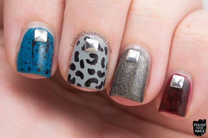 nails, nail art, nail polish, punk rock, studs, polish those nails,