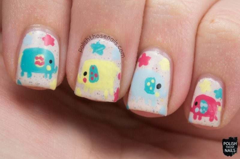 nails, nail art, nail polish, elephants, polish those nails