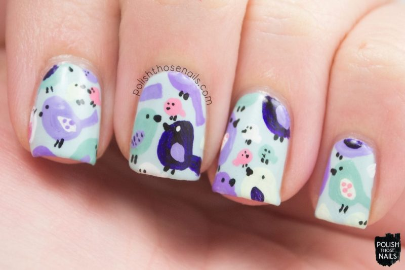 nails, nail art, nail polish, birds, pattern, polish those nails