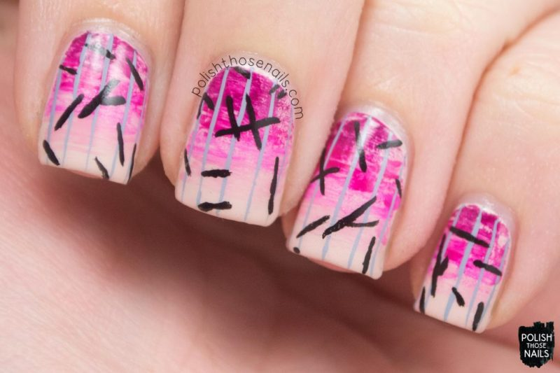 nails, nail art, nail polish, pink, gradient, stripes, polish those nails
