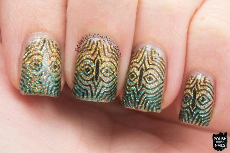 nails, nail art, nail polish, gradient, glitter, polish those nails, stamping