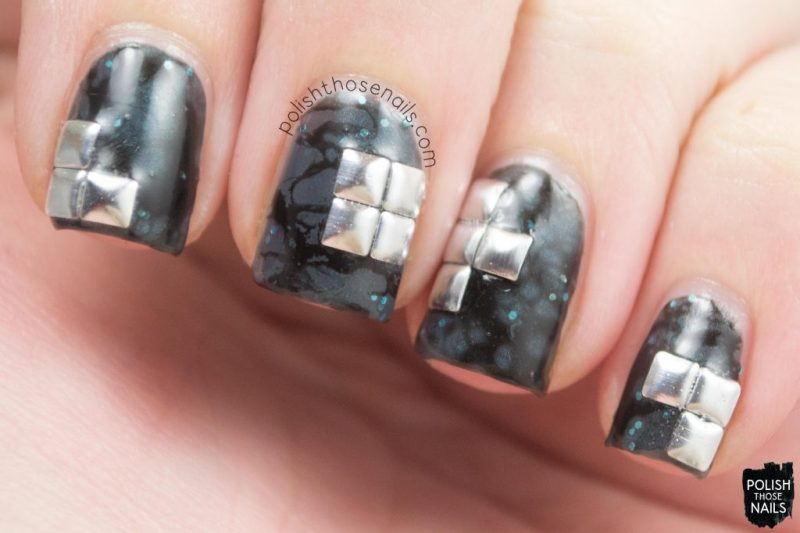 nails, nail art, nail polish, studs, water spotted, polish those nails, grey