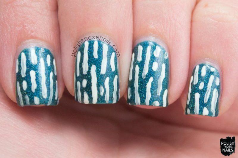 nail art, teal, not-so emerald city, holo, midwest lacquer, polish those nails, indie polish, nails, nail polish