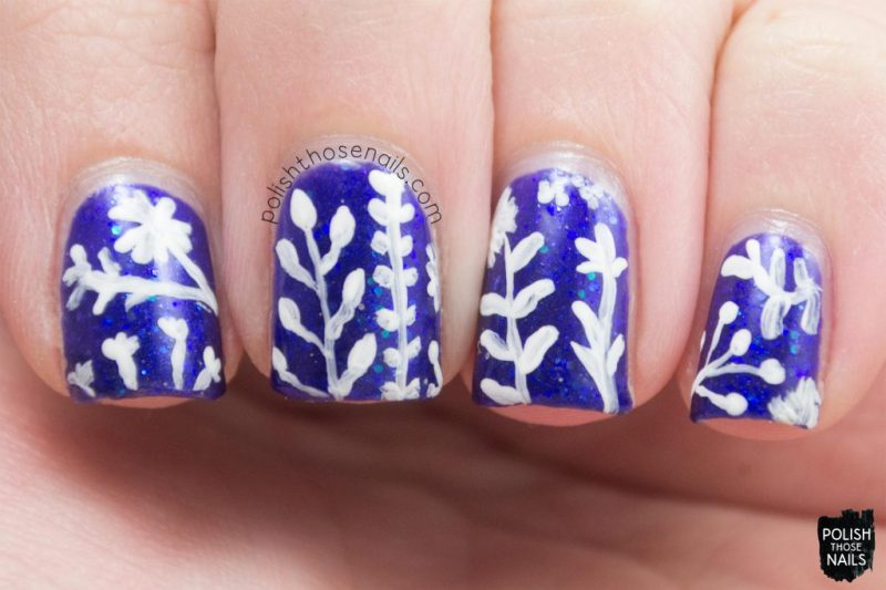 nail art, where bluebirds fly, blue, glitter, midwest lacquer, polish those nails, indie polish, nails, nail polish