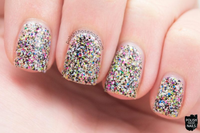 Swatch, Behind The Scenes, Glitter, Multicolor, Polish Those Nails, Polish 'M, Indie Polish