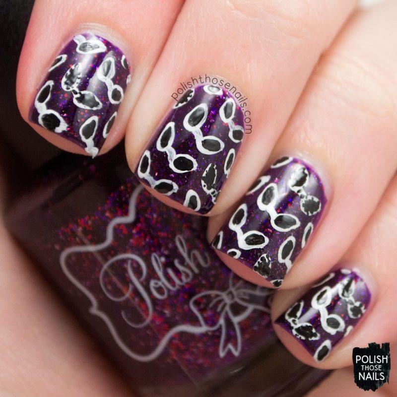 nail art, sunglasses, nail polish, nails, polish those nails, polish 'm, indie polish, cider by the bonfire, purple,
