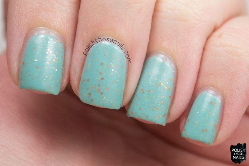 lady liberty, mint, glitter crelly, swatch, nails, nail polish, indie polish, polish those nails, polish 'm