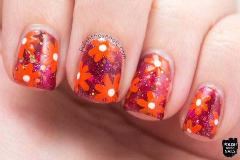 nails, nail art, nail polish, red, flowers, polish those nails