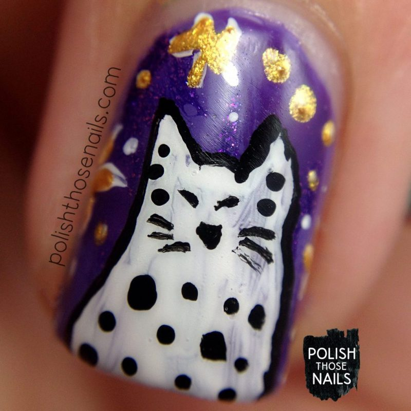 nails, nail art, nail polish, cats, whimsy, polish those nails, macro
