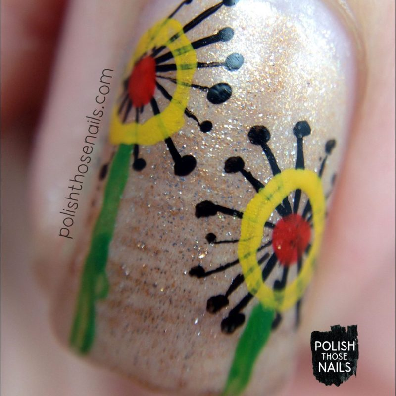 nails, nail art, nail polish, flowers, floral, polish those nails, macro