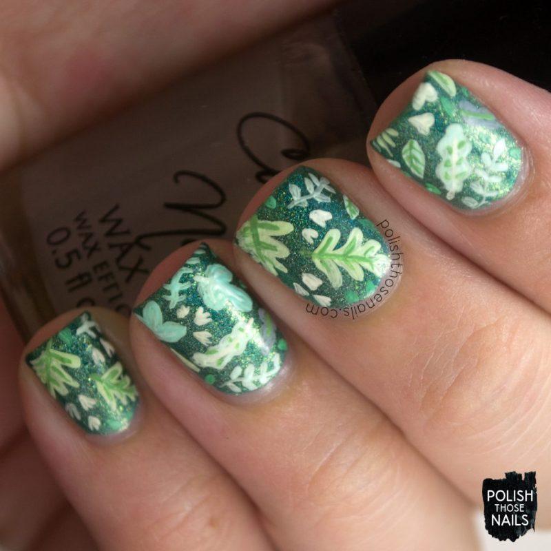 nails, nail art, nail polish, leaves, nature, polish those nails