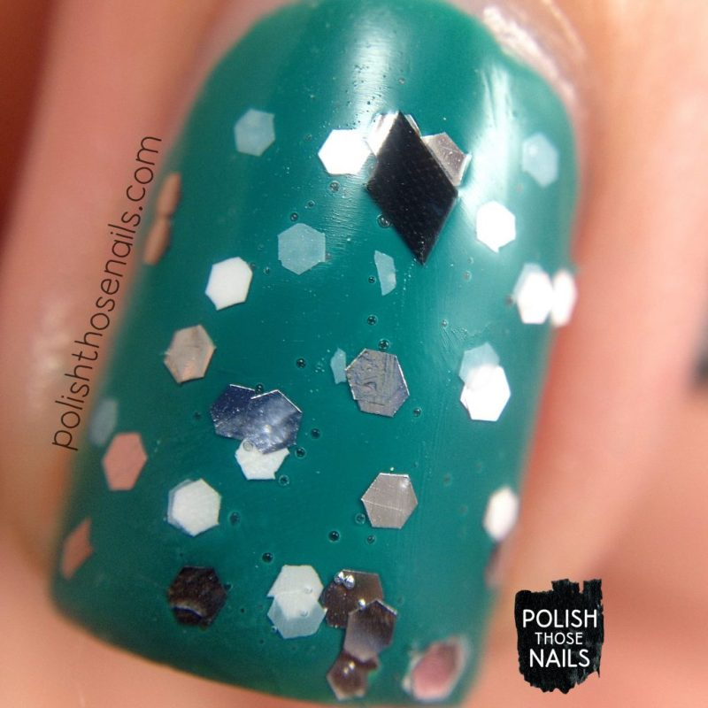 glitter, hammer time, swatch, nails, nail polish, polish those nails, indie polish, love angeline, macro