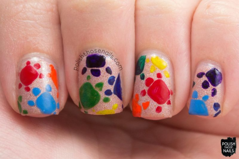 sand castles, turtles, nail art, shimmer, neutral, love angeline, polish those nails, indie polish
