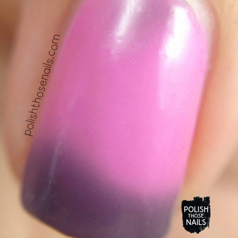 exotic horizon, pink, purple, thermal, nails, nail polish, indie polish, swatch, damn nail polish, polish those nails, summer sunset series, macro