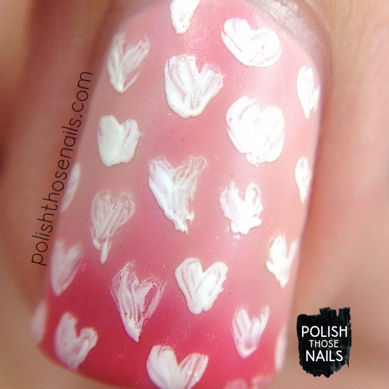 pink, blushing nudie, hearts, pattern, nails, nail polish, nail art, indie polish, thermal, polish those nails, dam nail polish, marco