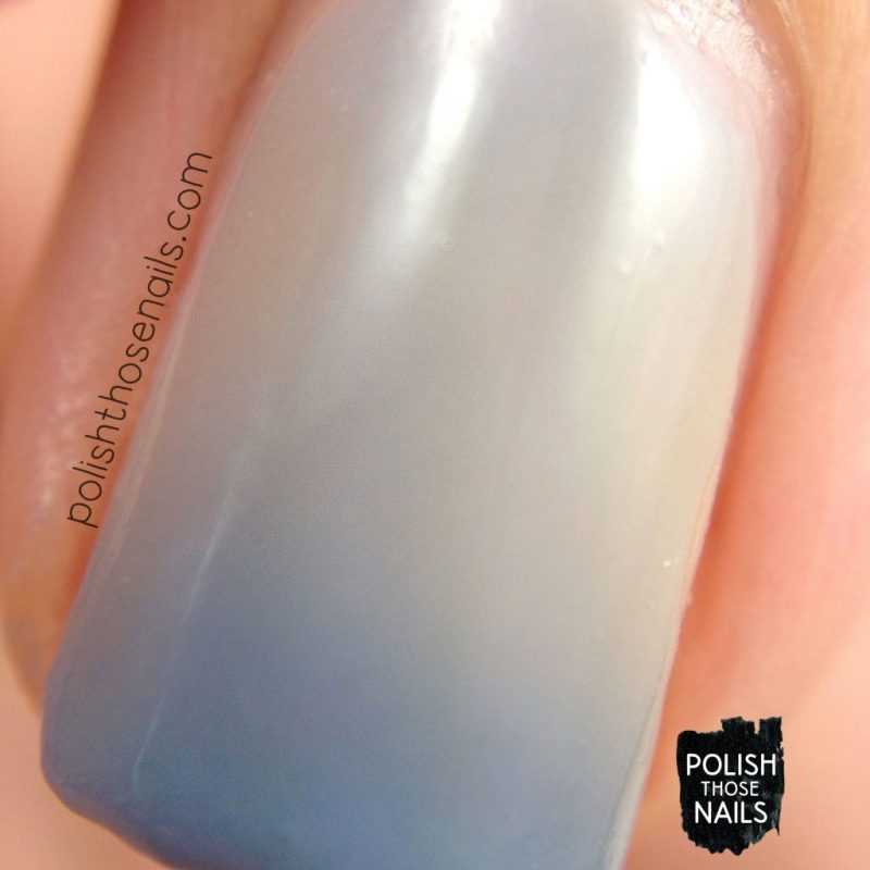 cerulean skies, blue, taupe, thermal, nails, nail polish, indie polish, swatch, damn nail polish, polish those nails, summer sunset series, macro