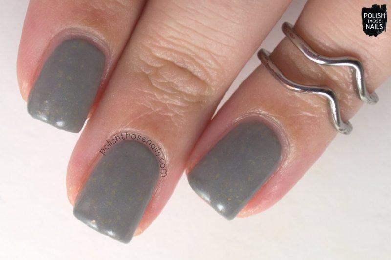 flakies, carry on, grey, flakies, nails, nail polish, love angeline, polish those nails, indie polish