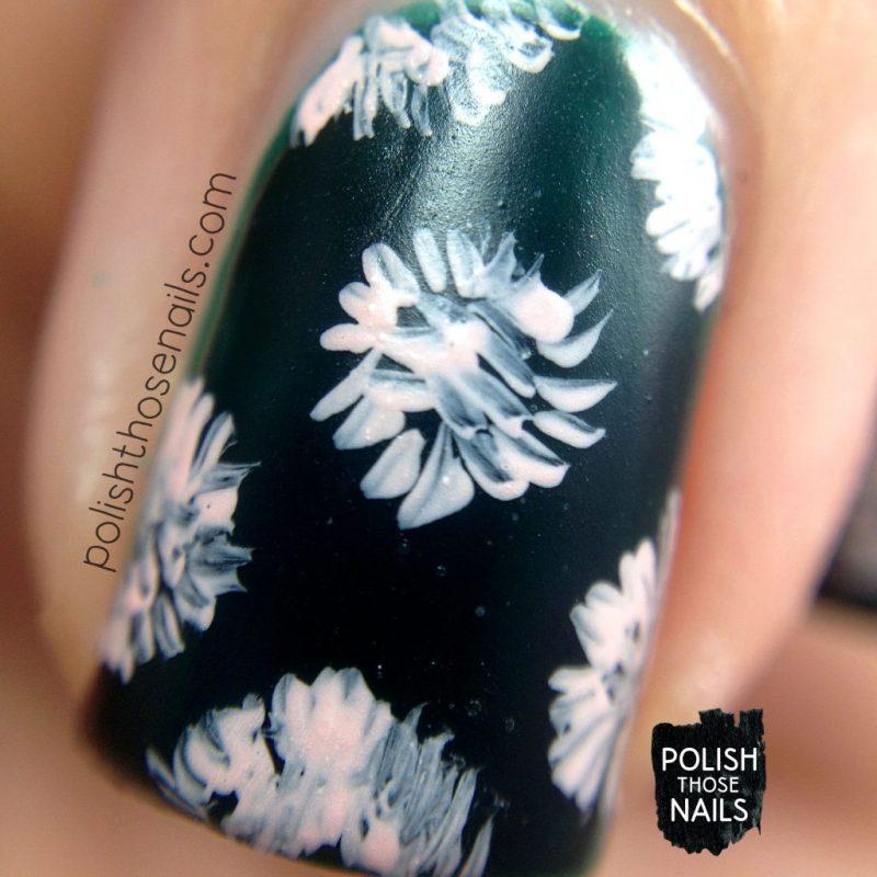 emerald city, floral, nail art, green, nails, nail polish, indie polish, love angeline, polish those nails, macro