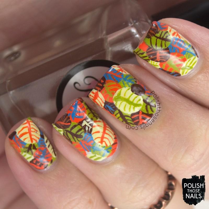 nails, nail art, nail polish, leaves, autumn, polish those nails, harvest time