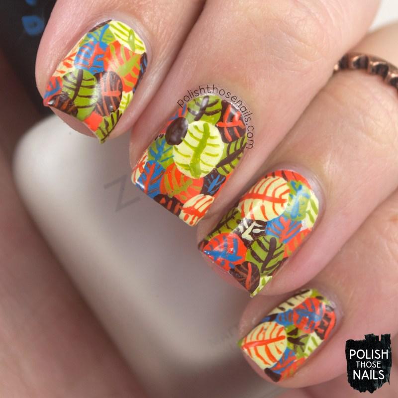 Harvest Time - Autumn Leaf Circles • Polish Those Nails