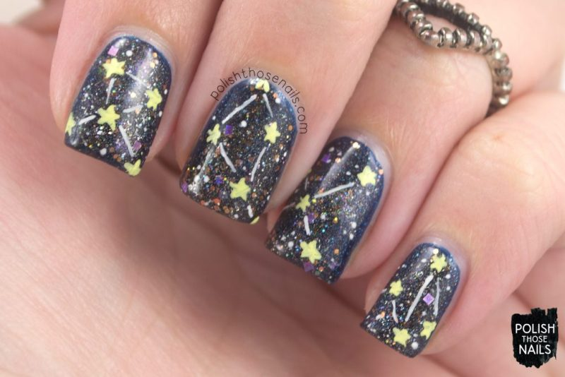 nails, nail art, nail polish, galaxy, polish those nails, glitter, indie polish