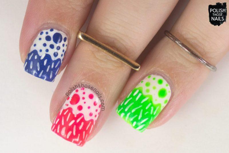 nails, nail art, nail polish, neon, neons, polish those nails, pattern