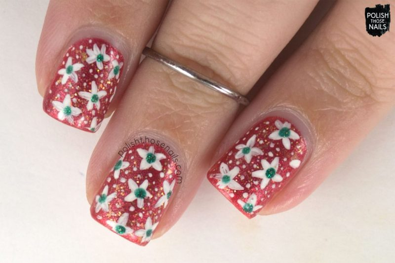 nails, nail art, nail polish, orange, floral, flowers, polish those nails