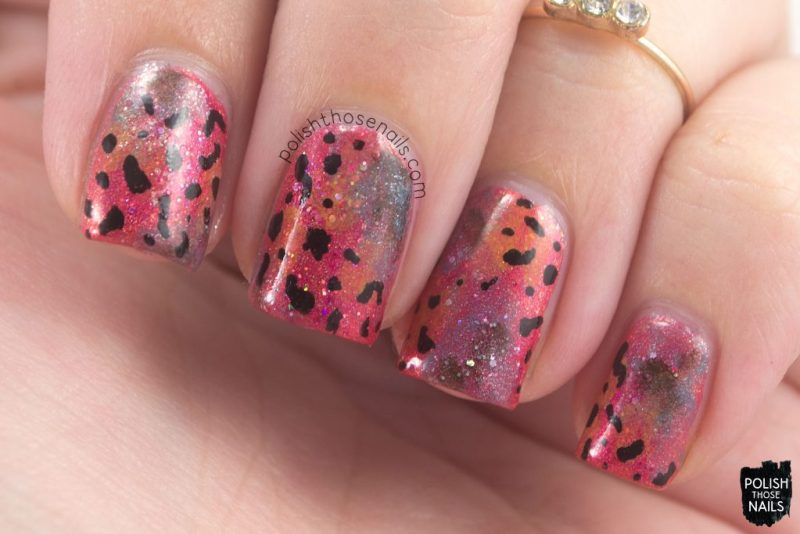 nails, nail art, nail polish, rainforest frog, sparkle, indie polish, polish those nails