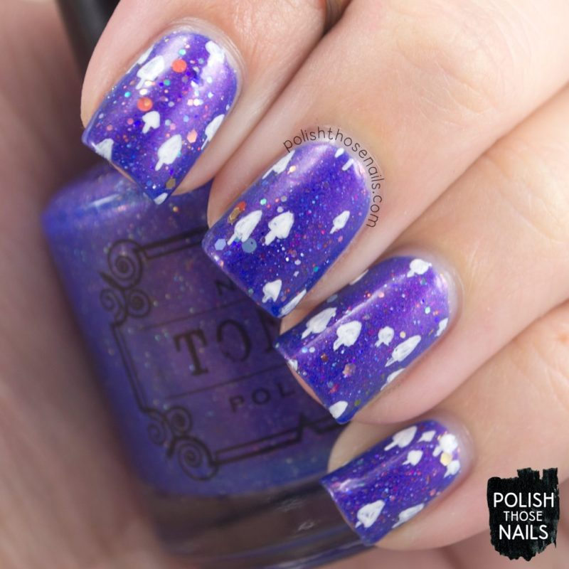 nails, nail art, nail polish, indie polish, purple, polish those nails, pattern