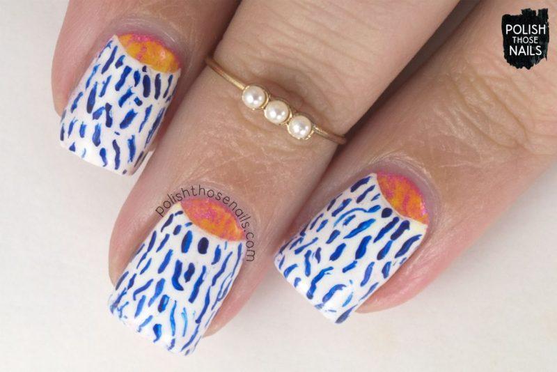 nails, nail art, nail polish, half moons, polish those nails, pattern