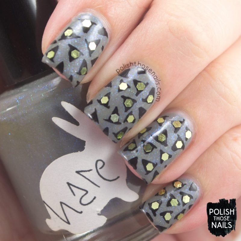 nails, nail art, nail polish, grey, indie polish, polish those nails, witch hats