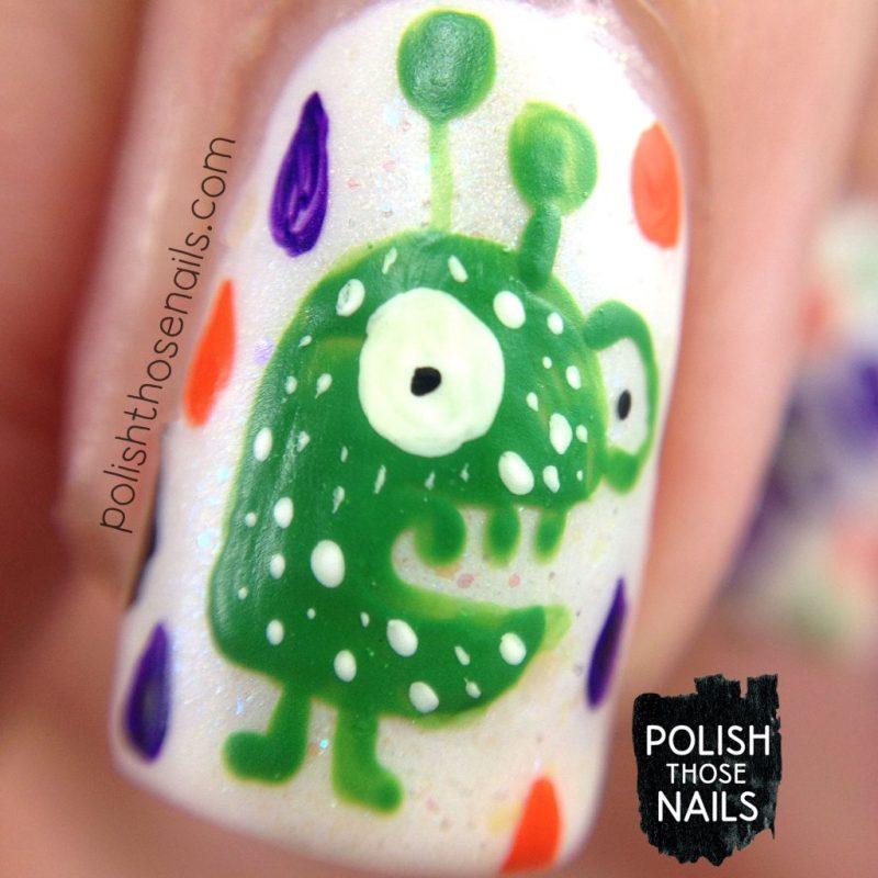 nails, nail art, nail polish, halloween, creatures, polish those nails, macro