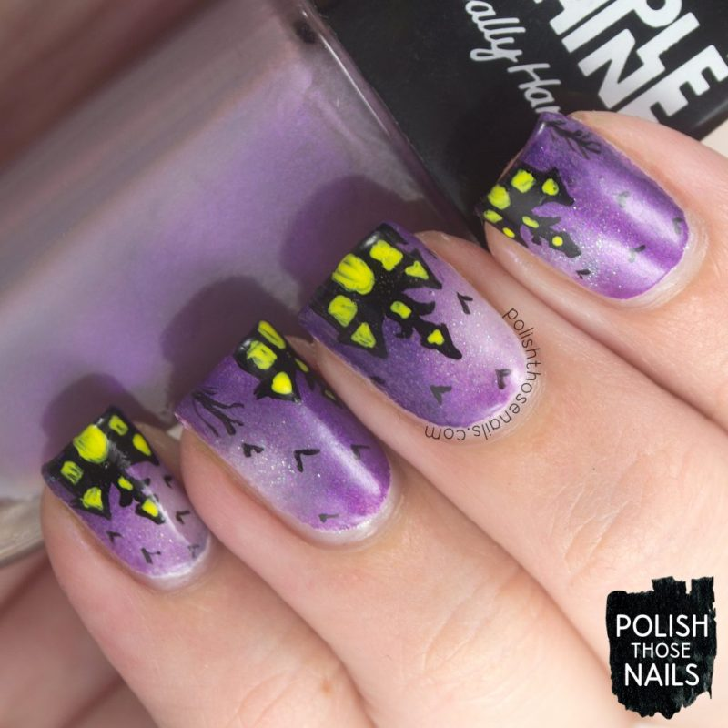 nails, nail art, nail polish, haunted house, halloween, polish those nails