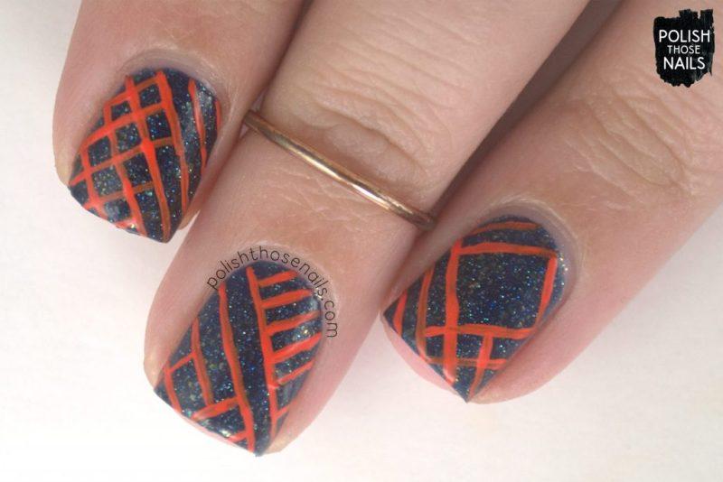 nails, nail art, nail polish, flakies, contrast, stripes, polish those nails, indie polish