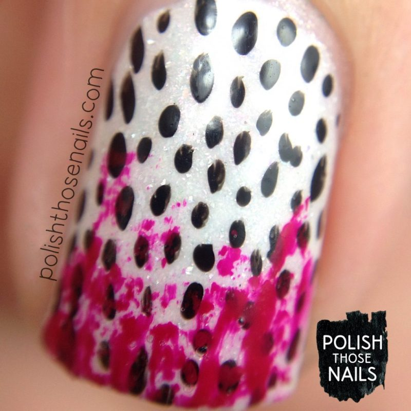 nails, nail art, nail polish, polka dots, polish those nails, macro