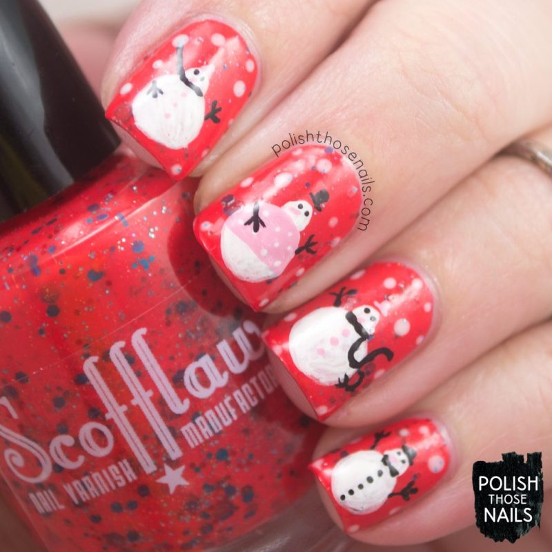 nails, nail art, nail polish, snowmen, winter, polish those nails, indie polish