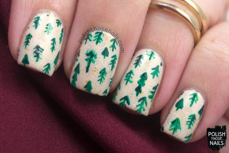 nails, nail art, nail polish, christmas trees, polish those nails, indie polish