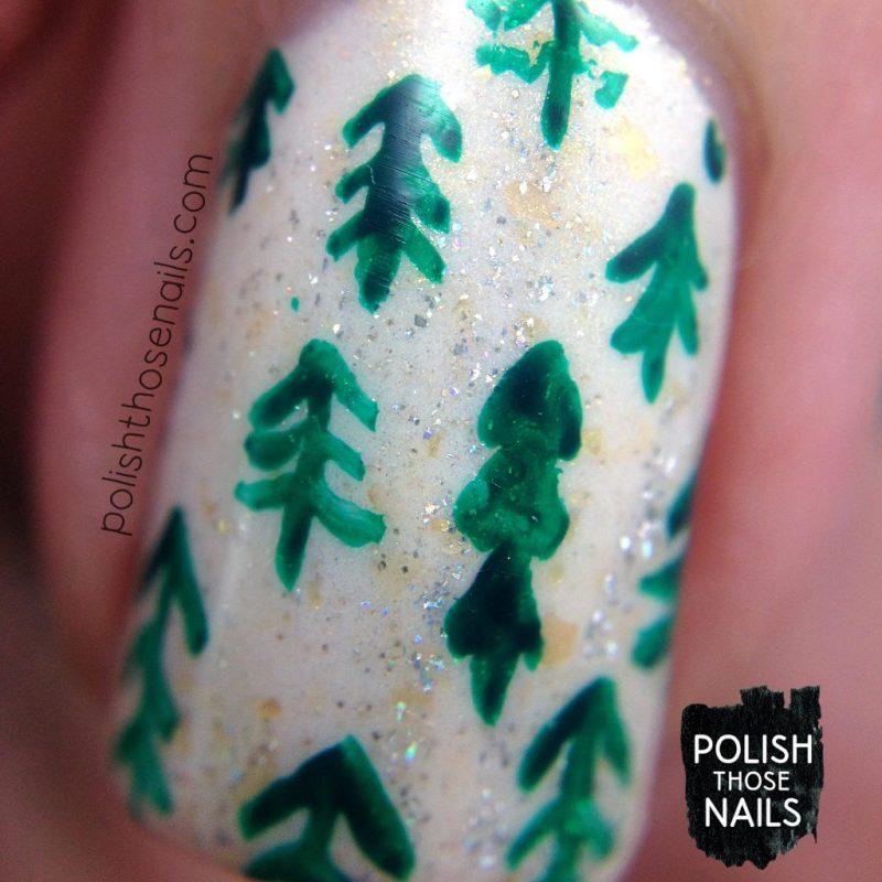 nails, nail art, nail polish, christmas trees, polish those nails, indie polish, macro